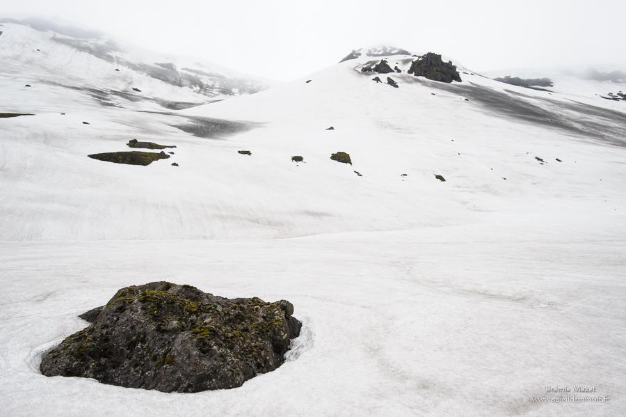 paysage de neige en Islande